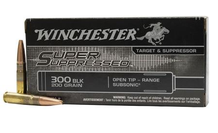 Winchester 300 Blackout 200 gr Open Tip Subsonic Super Suppressed 20/Box