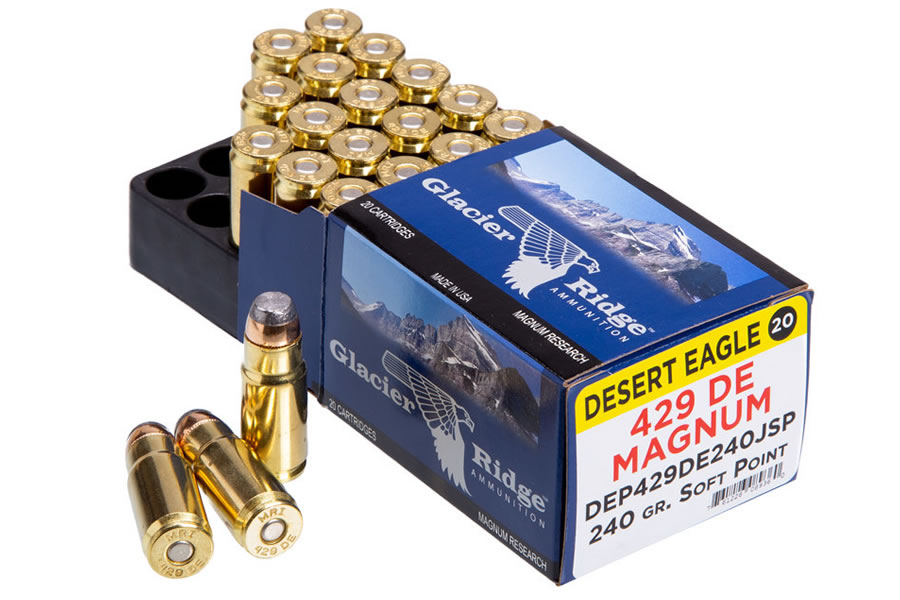 .429 DE MAGNUM 240 GR SOFT POINT GLACIER RIDGE