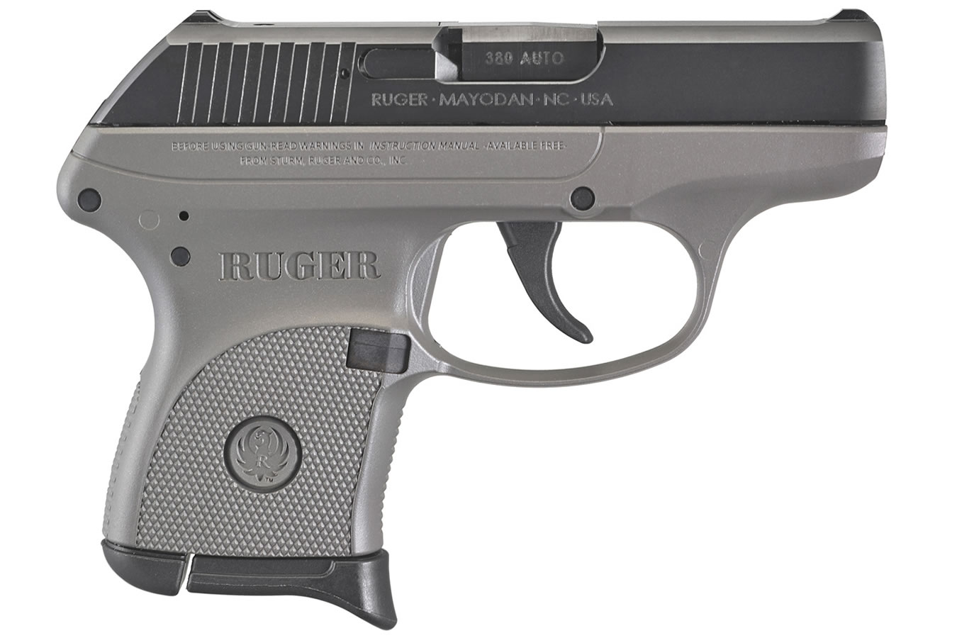 RUGER LCP 380 ACP BLACK/DESTROYER GRAY