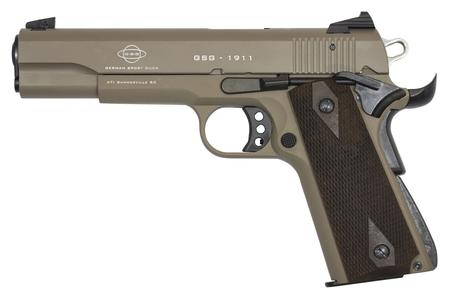 GSG 1911-22 22LR TAN RIMFIRE PISTOL WITH THREADED BARREL