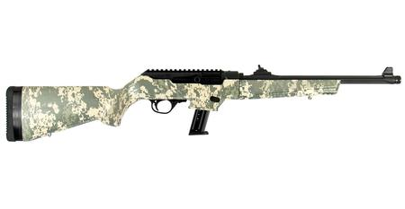 Ruger PC Carbine 9mm with Synthetic Digital Camo Stock and Threaded Barrel