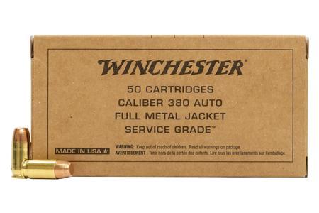 Winchester 380 ACP 95 gr FMJ FN Service Grade 50/Box