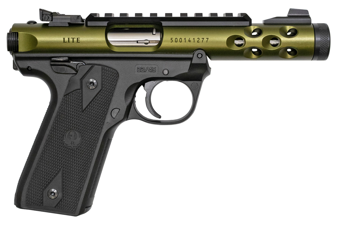 No. 20 Best Selling: RUGER MARK IV 22/45 LITE 22 LR GREEN ANODIZED