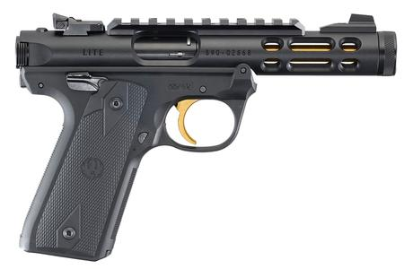 RUGER MARK IV 22/45 LITE 22LR BLACK/GOLD ANODIZED