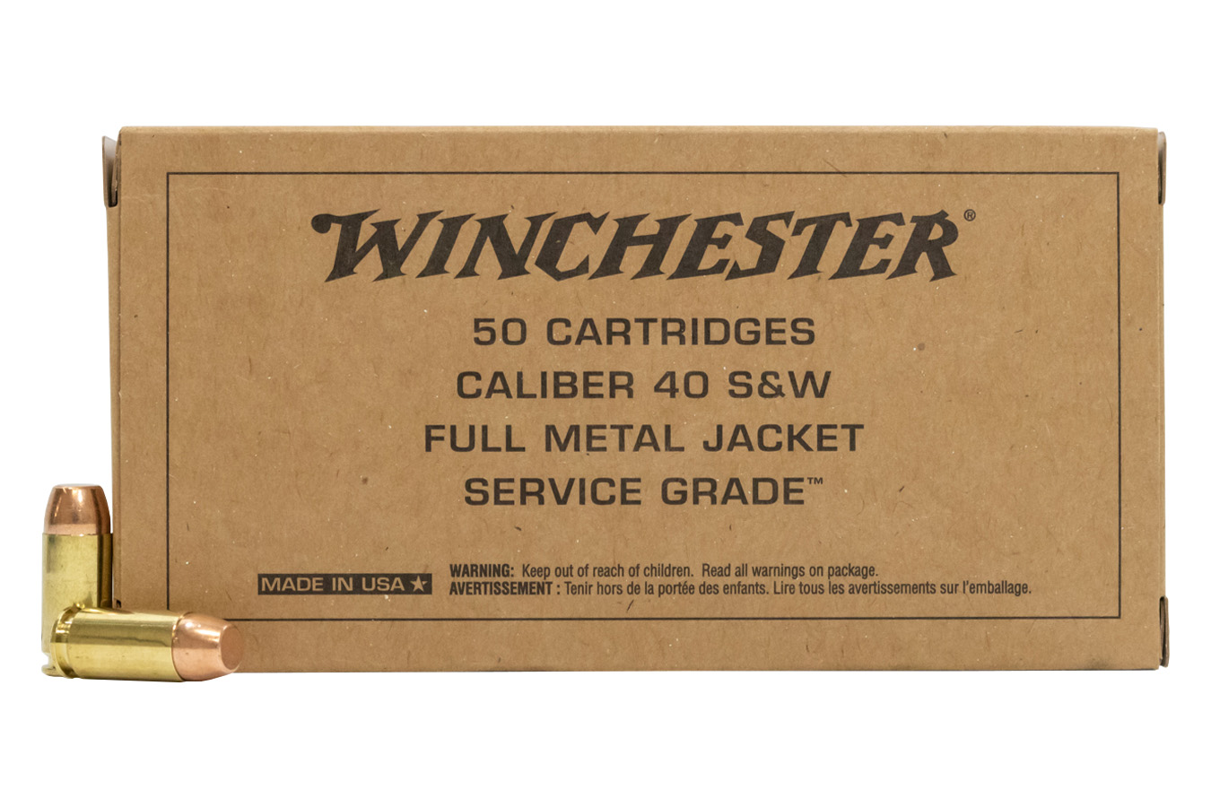 40 SW 165 FMJ-FN SERVICE WINCHESTER