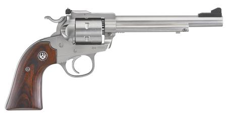Ruger Blackhawk Bisley Stainless Exclusive 22LR Revolver with Hardwood Grips