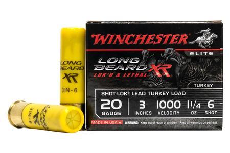 Winchester 20 Gauge 3 in 1-1/4 oz #6 Long Beard XR 10/Box