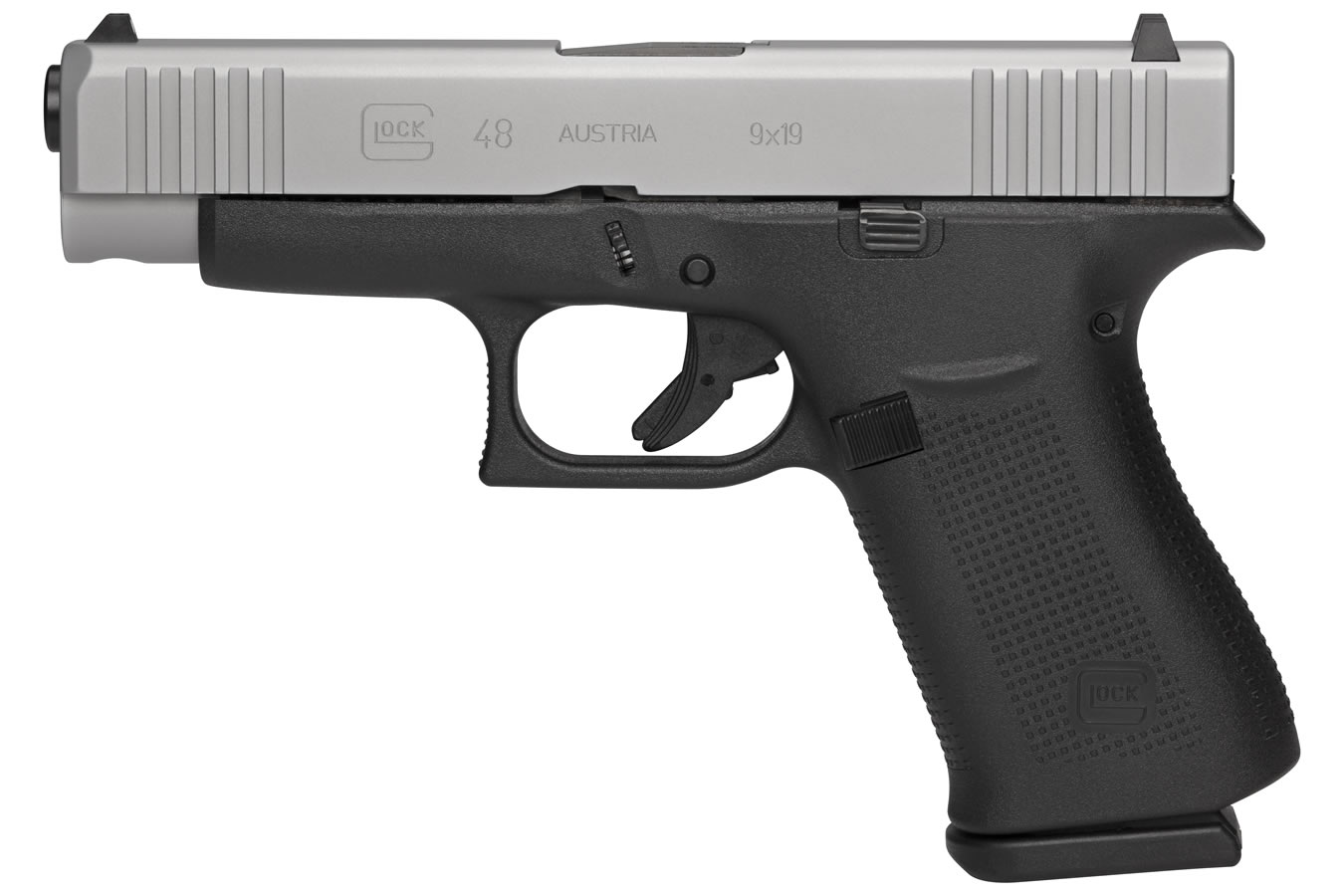 48 9MM COMPACT PISTOL WITH SILVER SLIDE (LE)