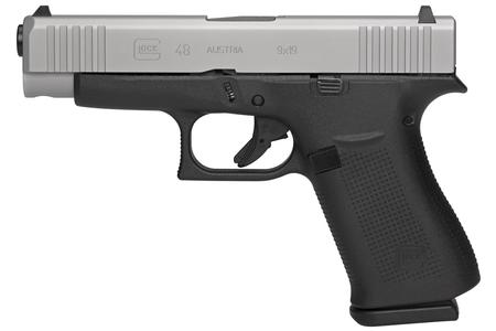 Glock 48 9mm Compact Pistol with Silver Slide and Glock Night Sights (LE)