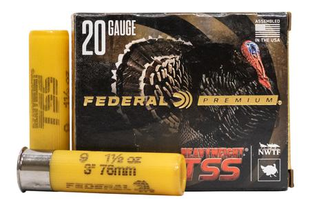 Federal 20 Gauge 3 in 1-1/2 oz #9 Shot Heavyweight TSS 5/Box