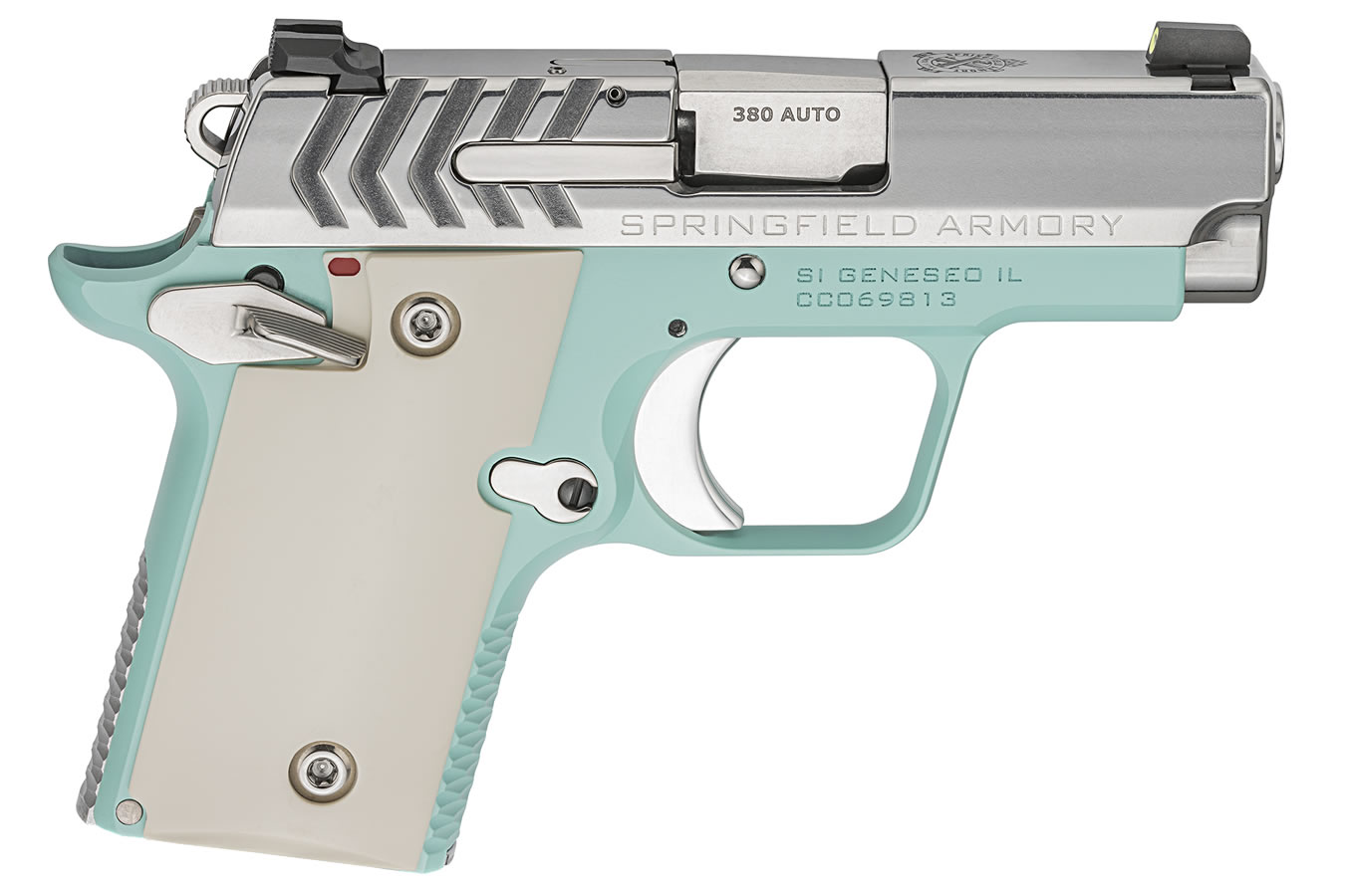 911  380 ACP Carry Conceal Pistol with Vintage Blue Cerakote/Stainless  Finish
