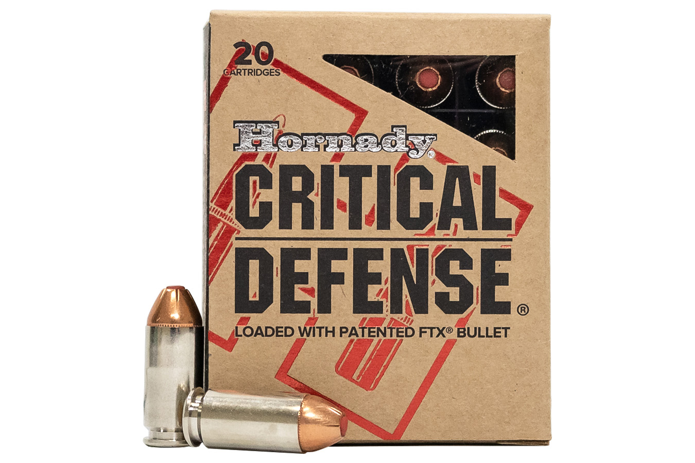 40 SW 165 GR FTX CRITICAL DEFENSE 20BX