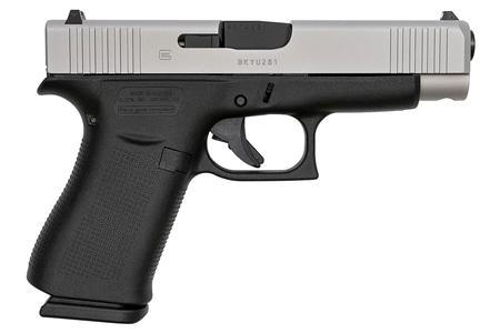 GLOCK 48 SINGLE STACK 9MM SILVER SLIDE