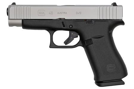 Glock 48 9mm Compact Pistol with Silver Slide (LE)