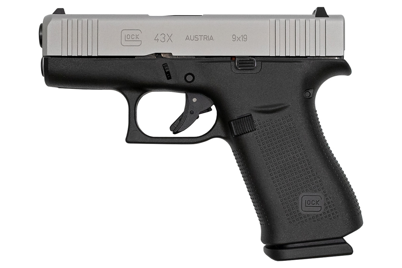 43x 9mm Pistol with Silver Slide (LE)