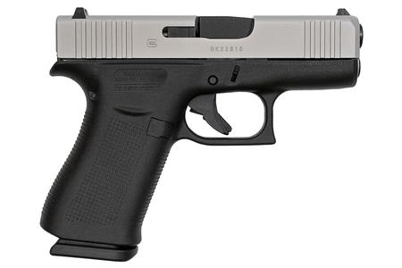 GLOCK 43X  9MM SILVER SLIDE/BLACK FRAME