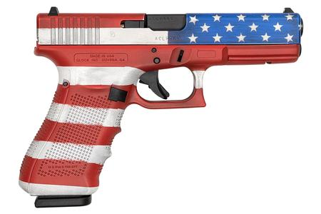 Glock 17 Gen4 9mm 17-Round Pistol with American Flag Cerakote (Made in USA)