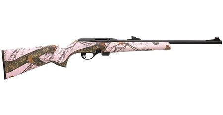 REMINGTON Model 597 22 LR Semi-Auto Rifle with Mossy Oak Pink Stock