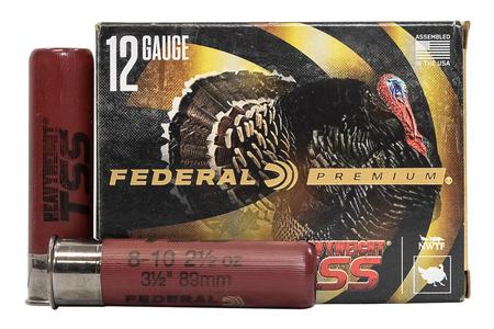 FEDERAL AMMUNITION 12 Gauge 3-1/2 inch 2-1/2 oz Heavyweight TSS #8,10 5/Box