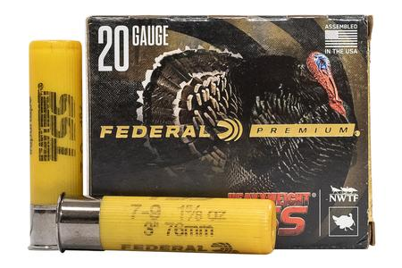FEDERAL AMMUNITION 20 Gauge 3 inch 1-5/8 oz Heavyweight TSS #7,9 5/Box