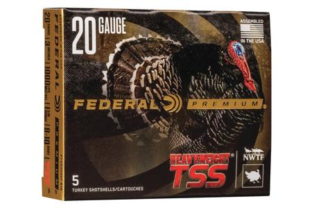 Federal 20 Gauge 3-In 1-5/8 oz 8 and 10 Shot Heavyweight TSS 5/Box