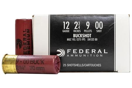 Federal 12 Gauge 2-3/4 in Tactical 9 Pellet 00 Buckshot 25/Box