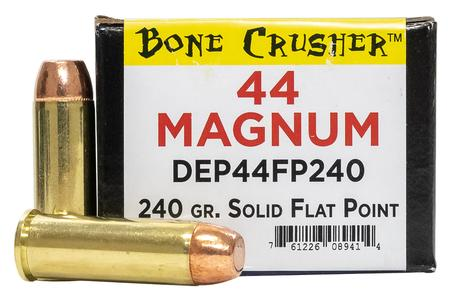 MAGNUM RESEARCH 44 Mag 240 gr Solid Flat Point Bone Crusher 25/Box