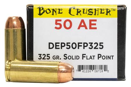 MAGNUM RESEARCH .50 AE 325 gr Solid Flat Point Bone Crusher 25/Box