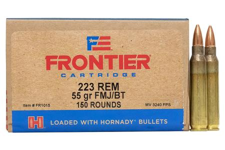 HORNADY 223 Rem 55 gr FMJ Frontier 150/Box (Oriented)