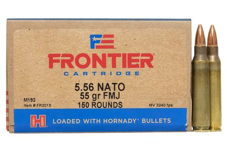 Hornady 5.56mm NATO 55 gr FMJ Frontier 150/Box (Oriented)