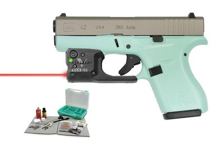 GLOCK 42 380 ACP EGGSHELL BLUE WITH LASER/KIT