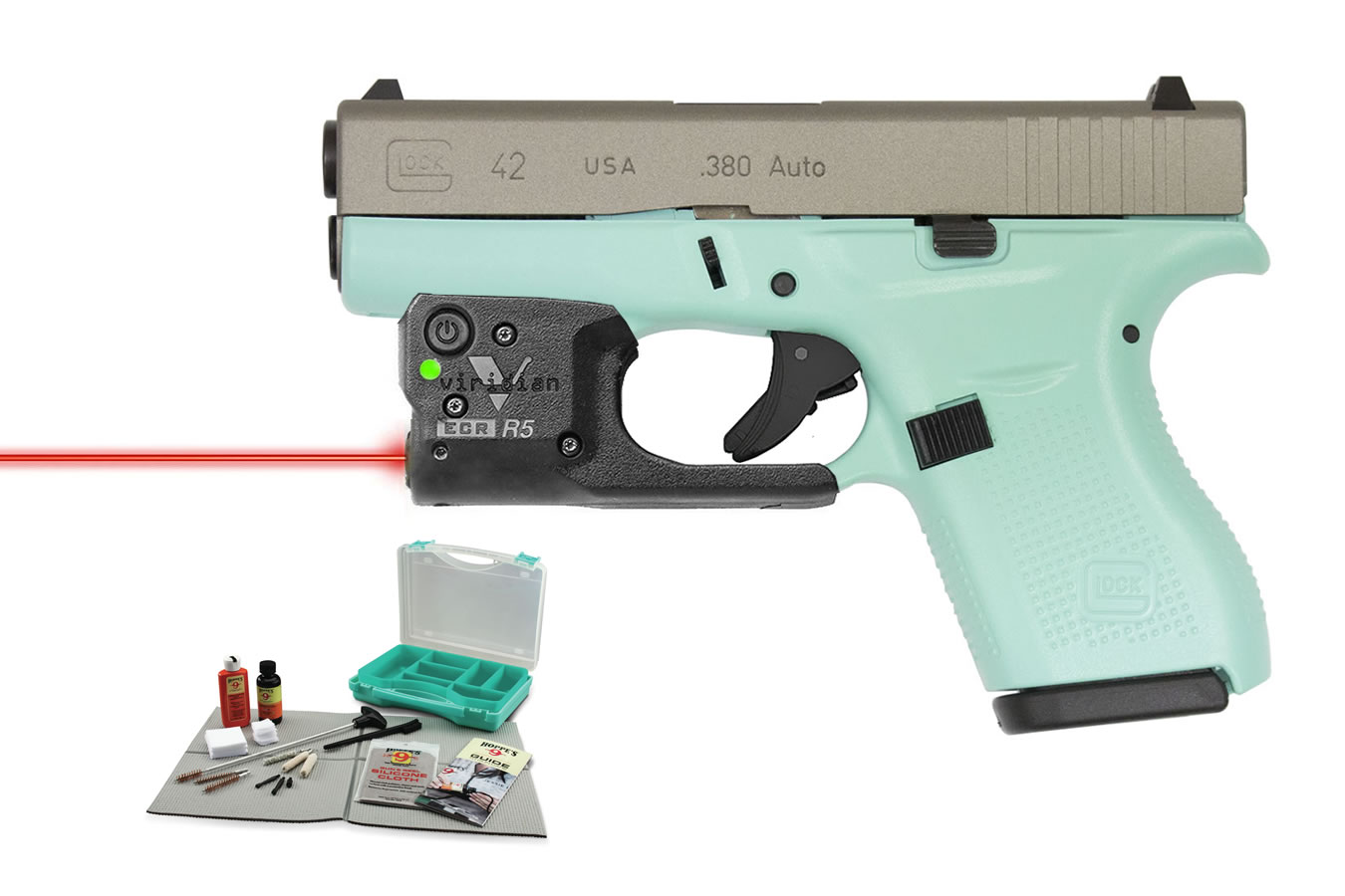 42 380 ACP EGGSHELL BLUE WITH LASER/KIT