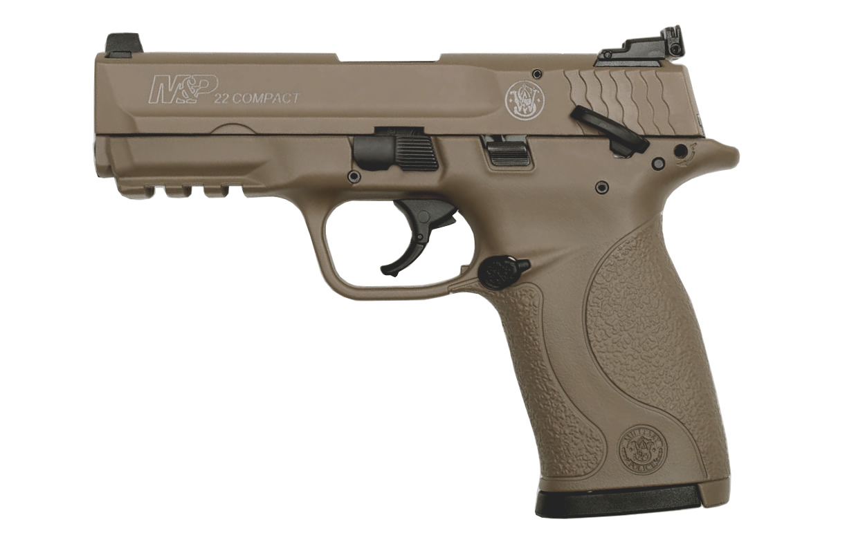 No. 7 Best Selling: SMITH AND WESSON MP22 COMPACT 22LR FDE CERAKOTE