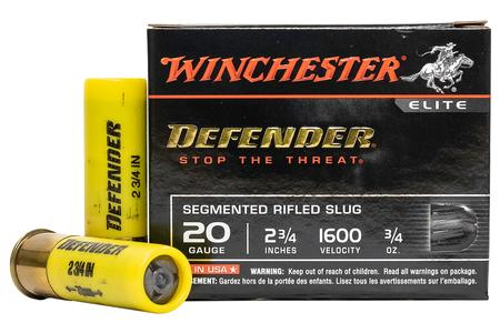 WINCHESTER AMMO 20 Gauge 2-3/4 in Defender Segmented Rifled Slug 5/Box