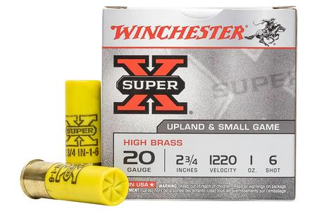 WINCHESTER AMMO 20 Gauge 2 3/4 in 1 oz 6 Shot - Super X 25/Box