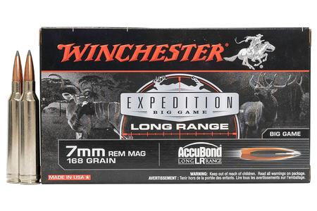 Winchester 7mm REM MAG 168 gr Expedition Big Game Long Range 20/Box