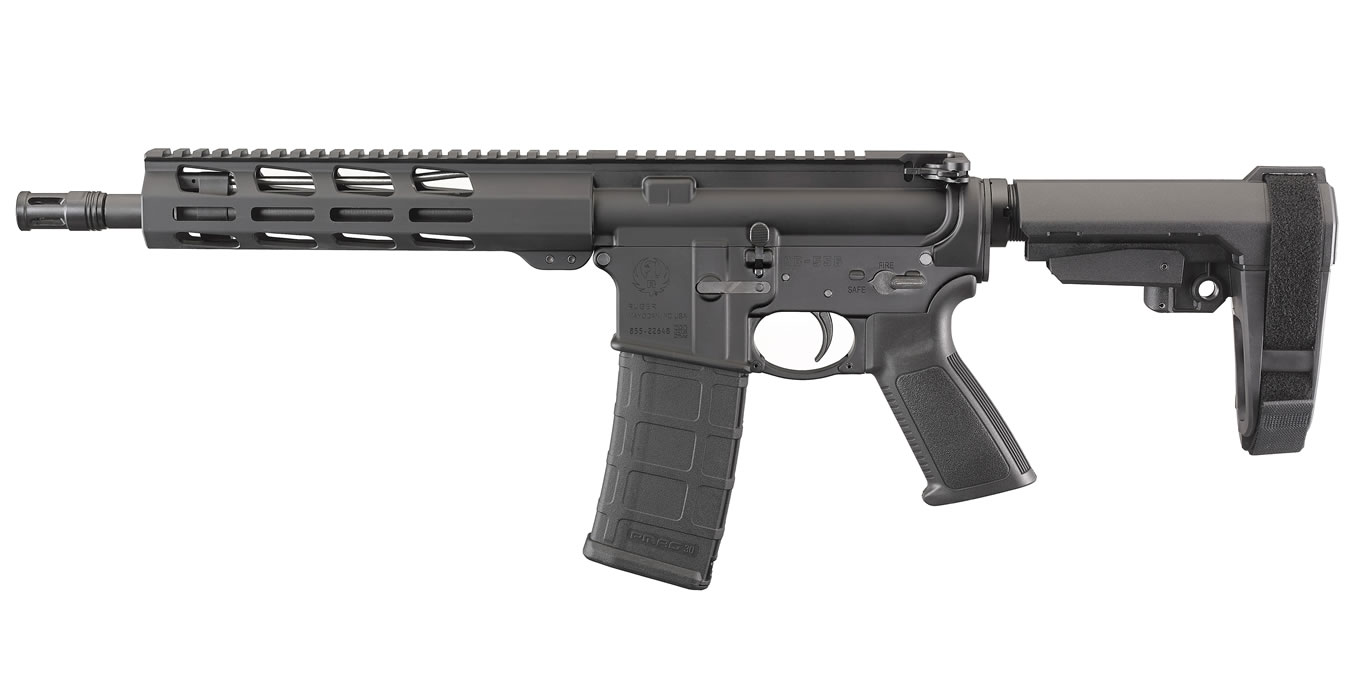 No. 10 Best Selling: RUGER AR-556 5.56MM SEMI-AUTOMATIC PISTOL WITH BRACE