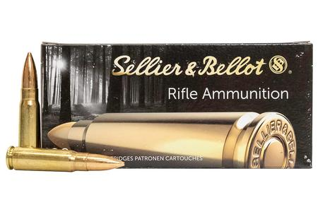 Sellier And Bellot 7.62x39mm 124 gr FMJ Rifle Ammo 20/Box