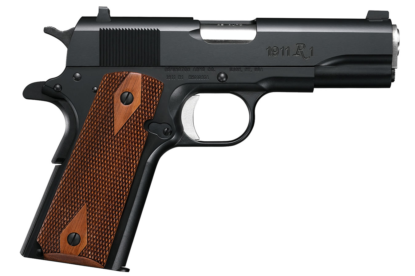 1911 R1 COMMANDER 45 ACP WITH WALNUT GRIPS