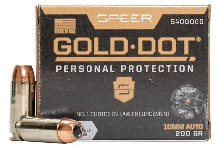 SPEER AMMUNITION 10mm Auto 200 gr Gold Dot HP 20/Box