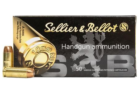 SELLIER AND BELLOT 10mm Auto 180 gr JHP 50/Box