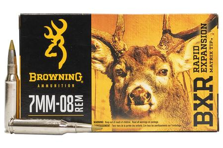 BROWNING AMMUNITION 7mm-08 Remington 144 gr BXR Rapid Expansion 20/Box