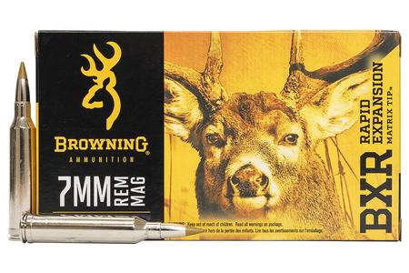 BROWNING AMMUNITION 7mm REM MAG 144 gr BXR Rapid Expansion 20/Box