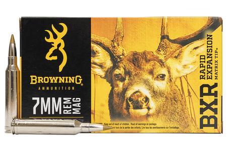 Browning 7mm REM MAG 144 gr BXR Rapid Expansion 20/Box