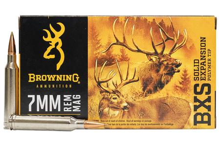 Browning 7mm REM MAG 139 gr BXS Solid Expansion 20/Box