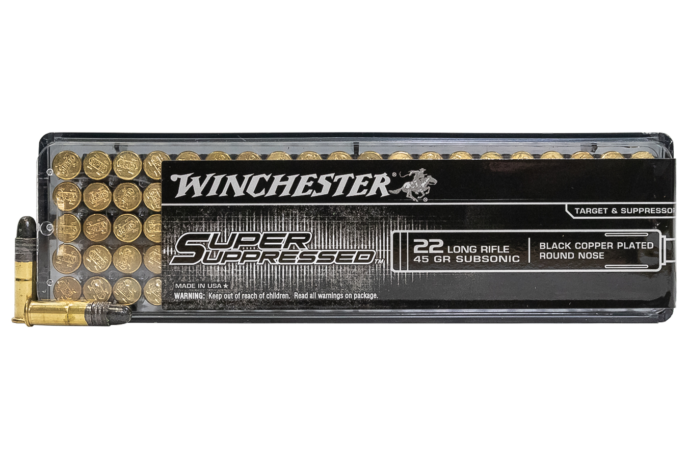 WINCHESTER AMMO 22 LR 45 GR LRN SUPER SUPPRESSED