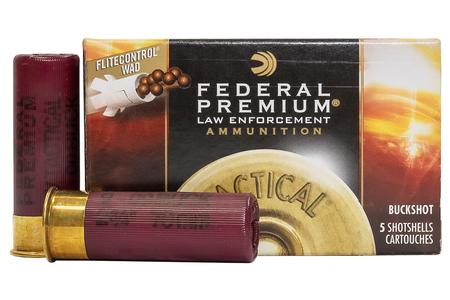 Federal 12 Gauge 2-3/4 in 9-Pellet 00 Buckshot Police Trade-In Ammo 5/Box