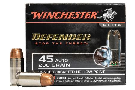 Winchester 45 ACP 230 gr Bonded JHP PDX1 Defender 20/Box