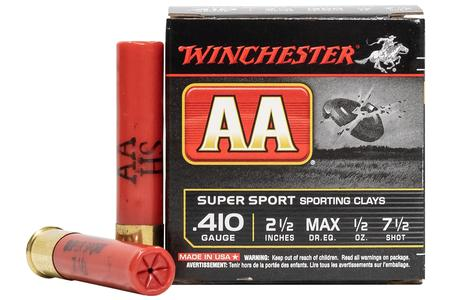 Winchester .410 Gauge 2-1/2 in 1/2 oz 7-1/2 Shot AA Super Sport 25/Box