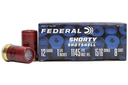 FEDERAL AMMUNITION 12 Gauge 1-3/4 in 5/16 oz 8 Shot Shorty Shotshell 10/Box
